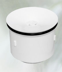 waterless urinal cartridge white