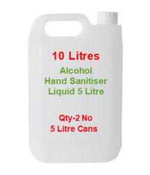 alcohol hand sanitiser 10 litre