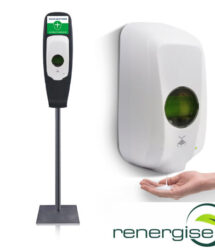 hand sanitiser dispenser with floor stand