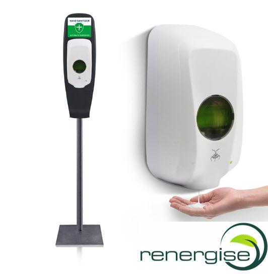 hand sanitiser dispenser with floor stand
